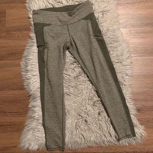 athleta herringbone leggings w/ zipper pockets ✖️